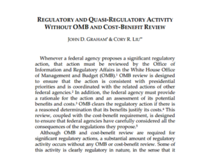 Recensione. Regulatory and Quasi-Regulatory Activity Without Review